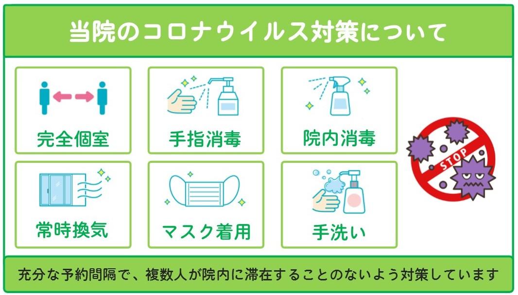 宝塚市のあさひ整骨院は、新型コロナウイルス感染症対策を行っています。